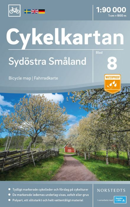 Sweden Cycling Map 08 - Smaland Southeast